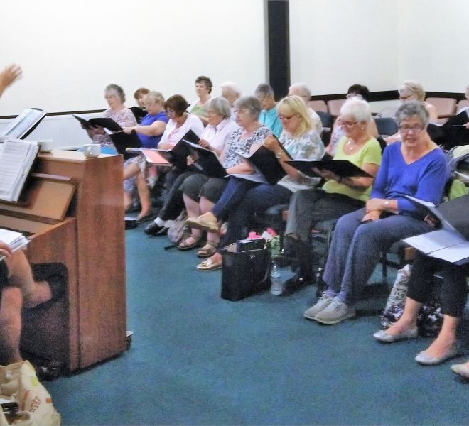 56 Rehearsal for 'Songs & Supper'