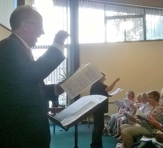 61 Rehearsal for the 'Festival of Brass & Voices' with Clive & Carolyn
