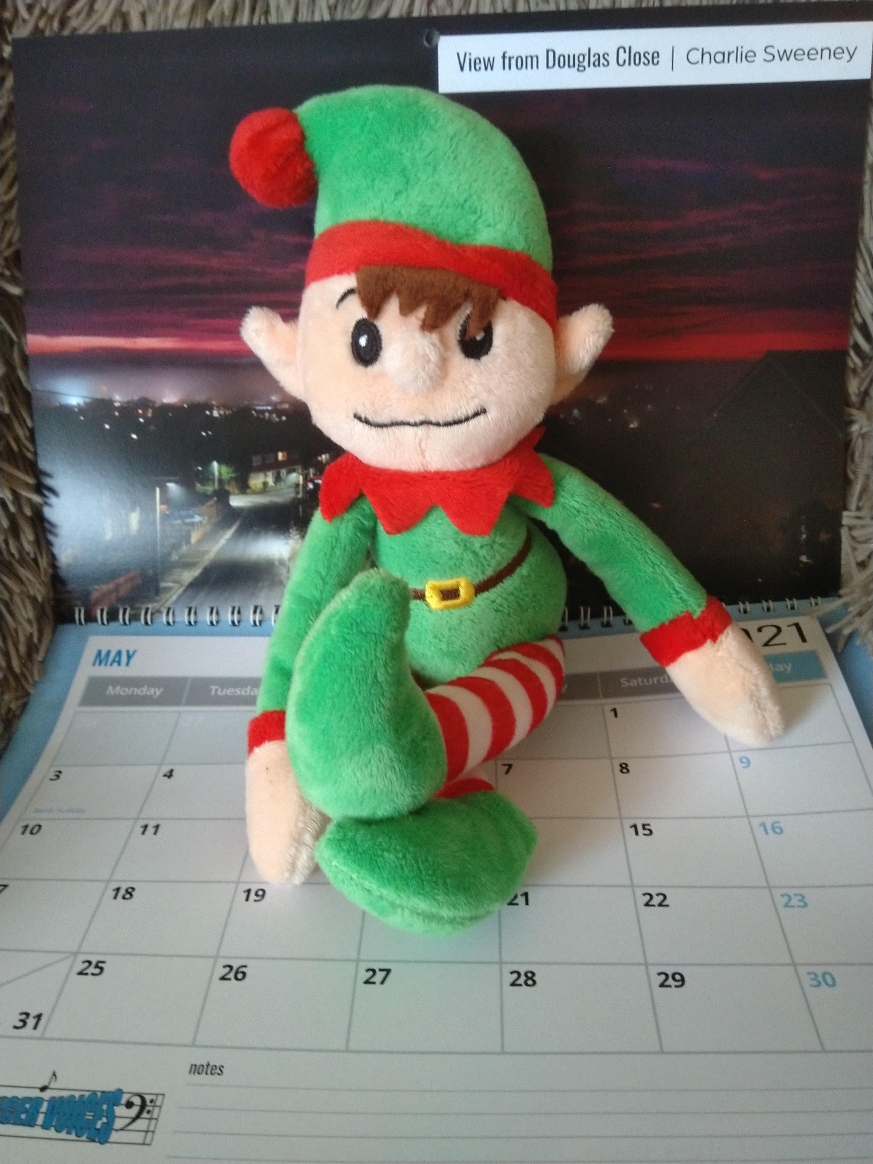2 Alfie doing his bit to promote the Calendar